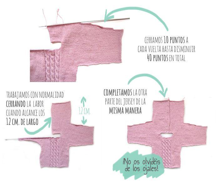 Cómo hacer un Jersey de bebé a dos agujas - DIY