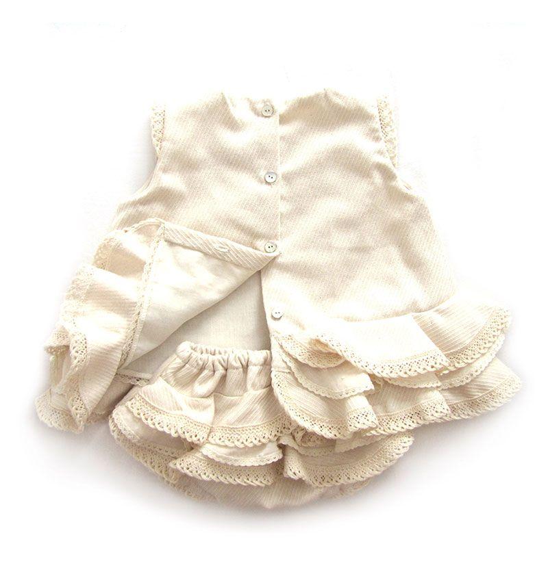 Vestido de flamenca de bebé- Tutorial y patrón