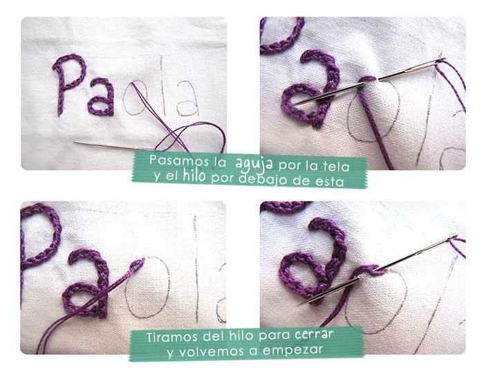 Cómo bordar un nombre a mano- Tutorial paso a paso