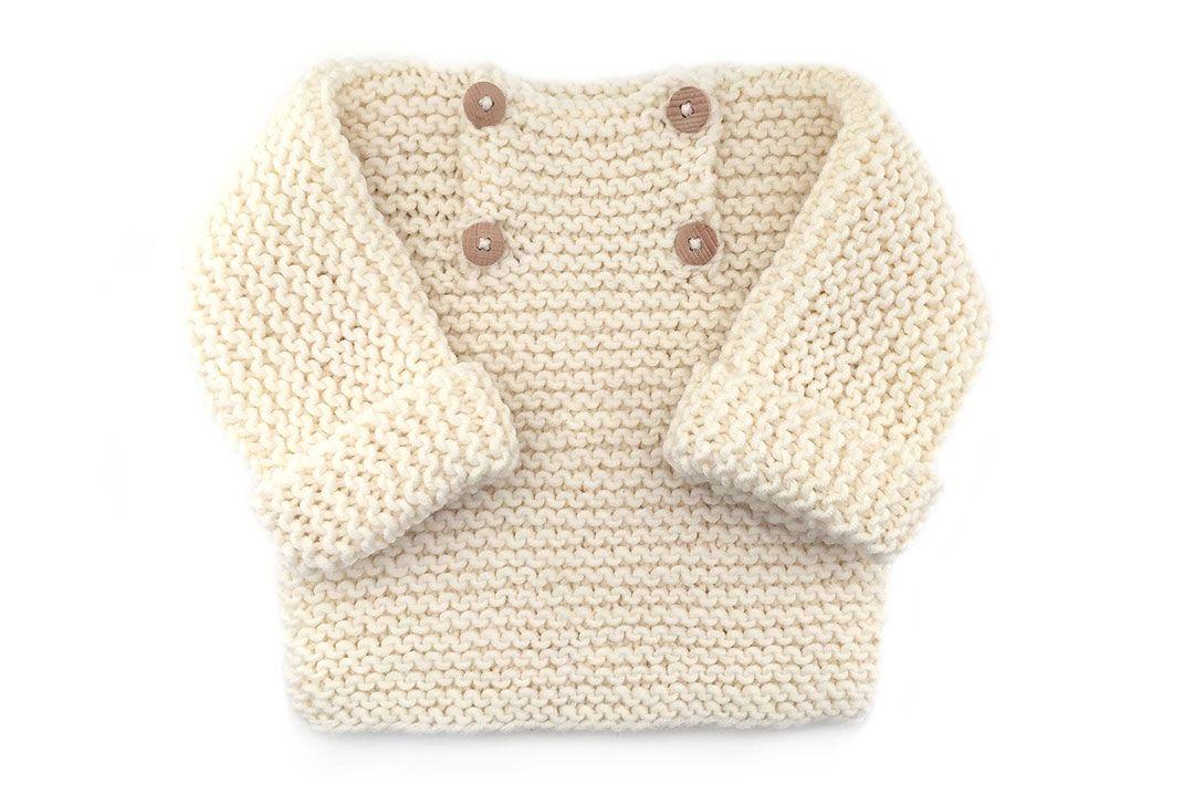 Jersey de bebé de punto bobo -Natural Baby