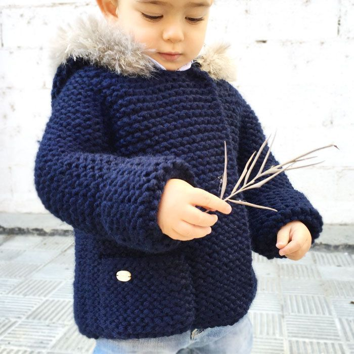 d97bc82b569cc Abrigo de punto de bebé - DIY- Creativa Atelier