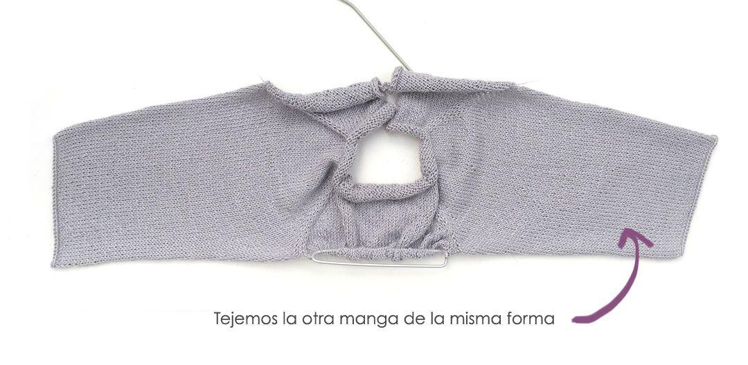Jersey de punto con volantes de bebé tejido a dos agujas - Patrón y tutorial DIY
