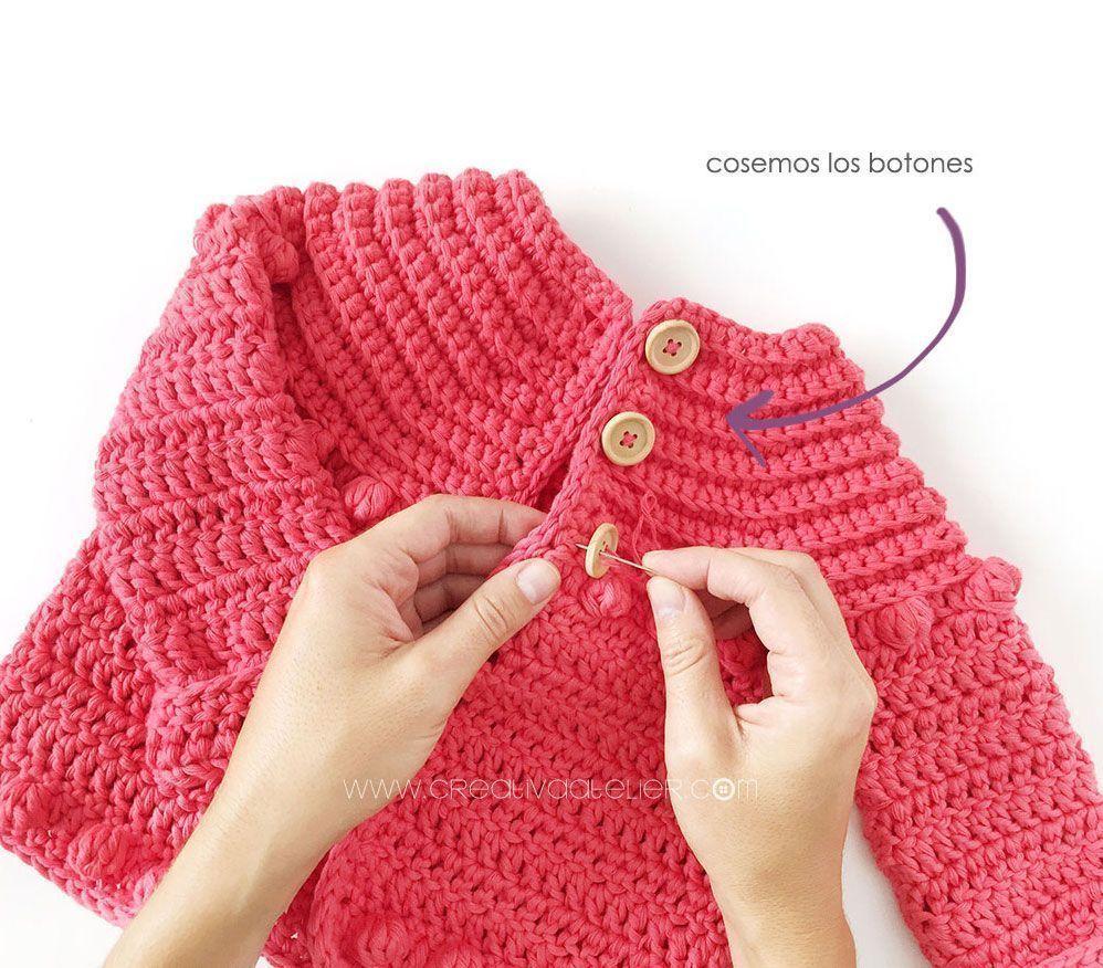 Y Tutorial Gratis De Burbujitas Chaqueta Crochet Patrón Niña Para PwzqWv6xg
