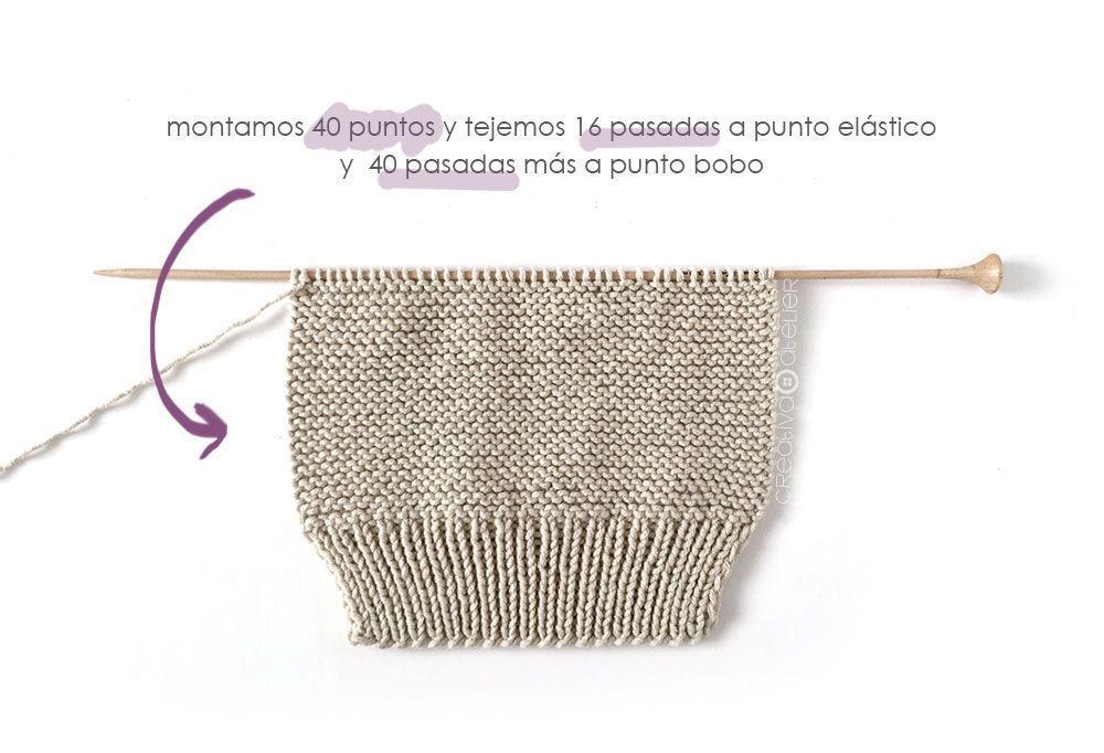 Polaina de punto NUR - Tutorial y Patrón - Creativa Atelier