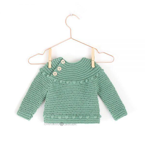 Patrón de Jersey de Crochet y bodoques